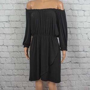 Allen B. off-the-shoulder mini dress